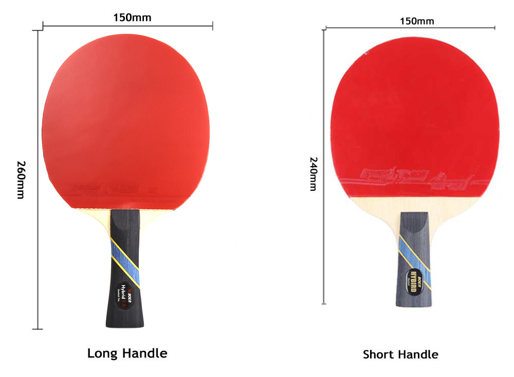 BOER S5 Table Tennis Ping Pong Racket Wooden Handle Pimples-in Rubber Paddle Bat