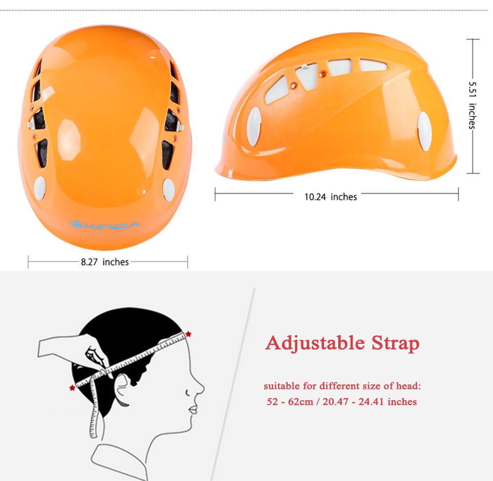 XINDA XD - 8614 Adjustable Rock Climbing Helmet Safety Caving Rescue Wading Riding Downhill Equipment
