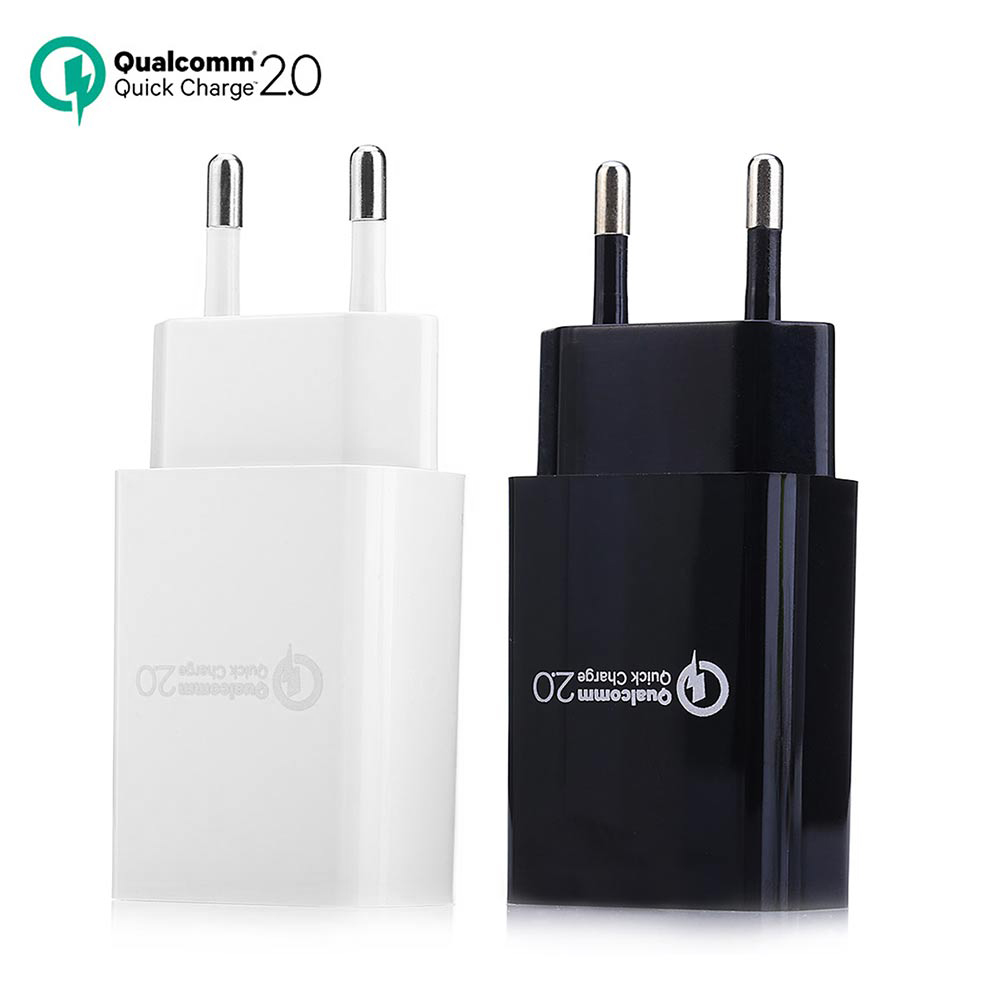 QC2.0 AC / DC Rapid Charger USB Power Adapter EU Plug