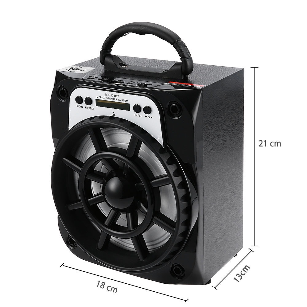 Redmaine MS - 135BT Portable High Power Output Multimedia FM Radio Wireless Bluetooth Speaker