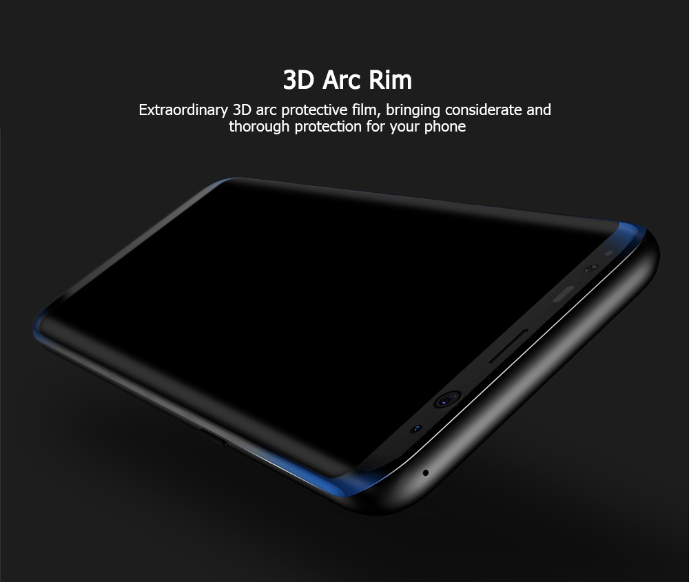 Baseus Tempered Glass 3D Arc Silk-screen Printed Full Edge Coverage Protective Film for Samsung Galaxy S8 Plus 0.3mm