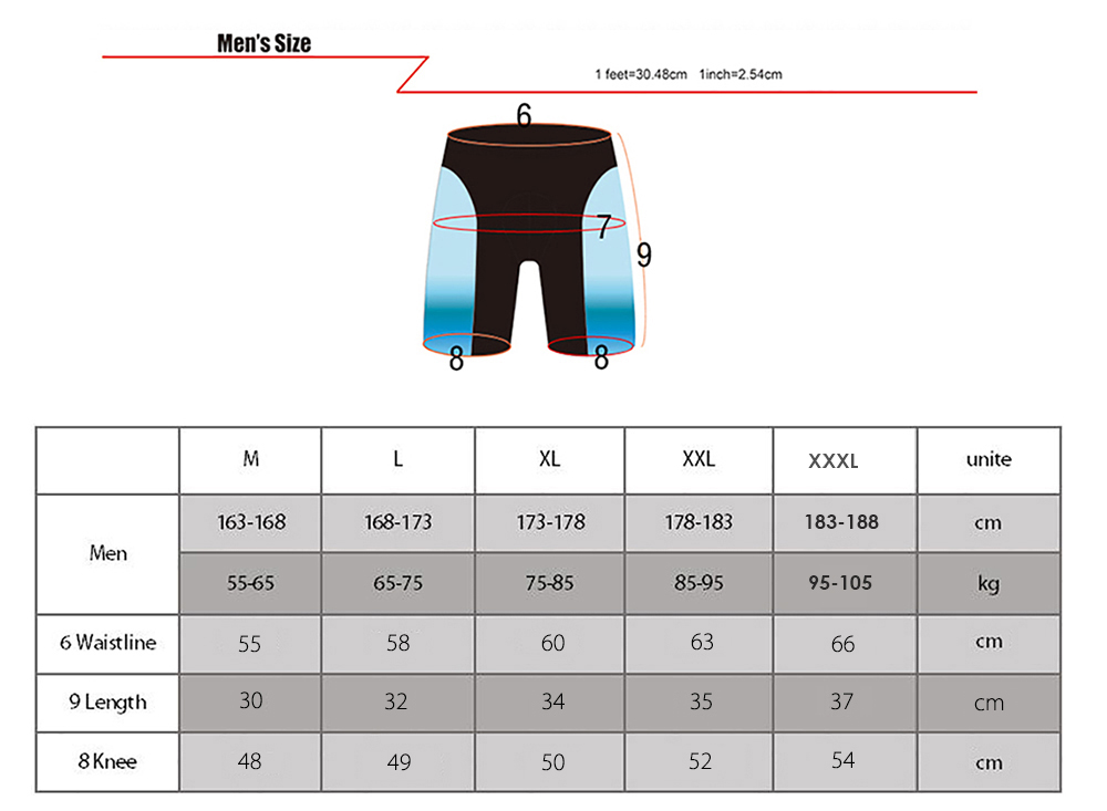 BOI Silica Gel Padded Underpant Breathable Men Shorts for Cycling Biking
