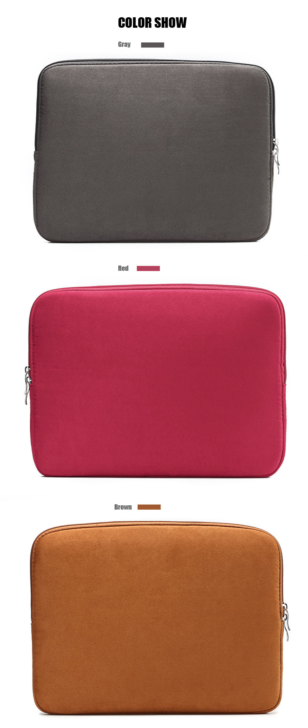 13 inch Laptop Sleeve Bag Protective  Pouch for MacBook Air / Pro Retina