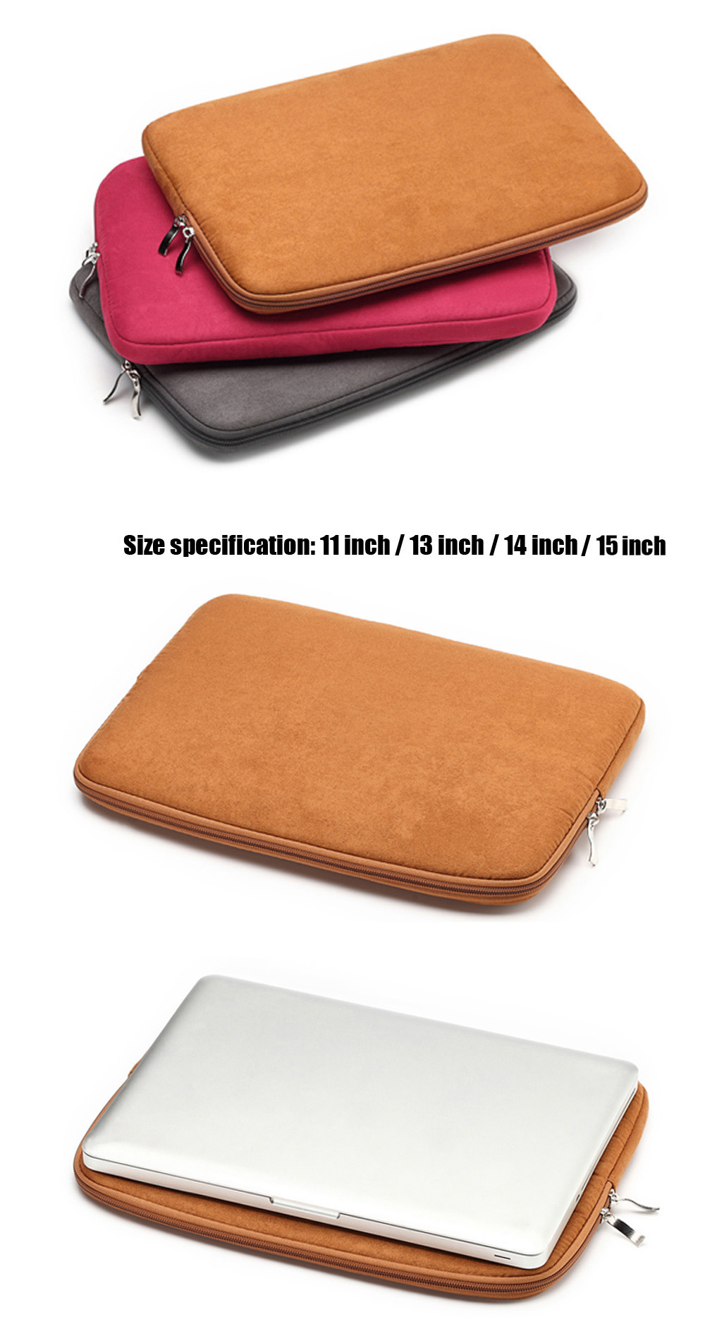 11 inch Laptop Sleeve Bag Protective  Pouch for MacBook Air / Pro Retina