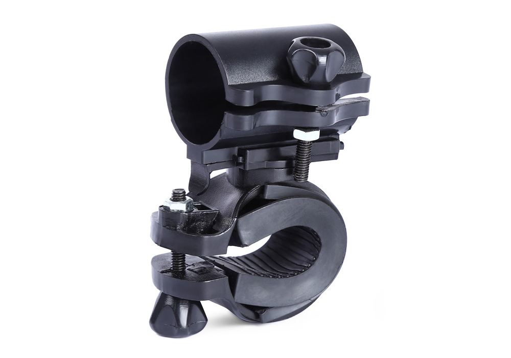 Bicycle Separable Frame Flashlight Clip 360 Degree Rotation