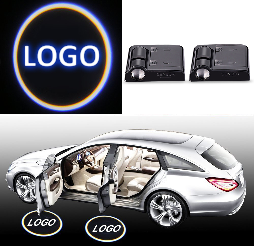 2PCS No Drill Type Wireless Car Door Logo Badge Welcome Lights Cree Led Laser Ghost Shadow Projector Lamps Universal for Toyota