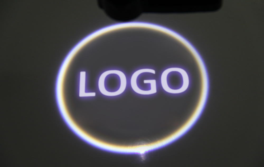 2PCS No Drill Type Car Door Logo Badge Welcome Lights Cree LED Laser Ghost Shadow Projector Lamps Universal for Skoda