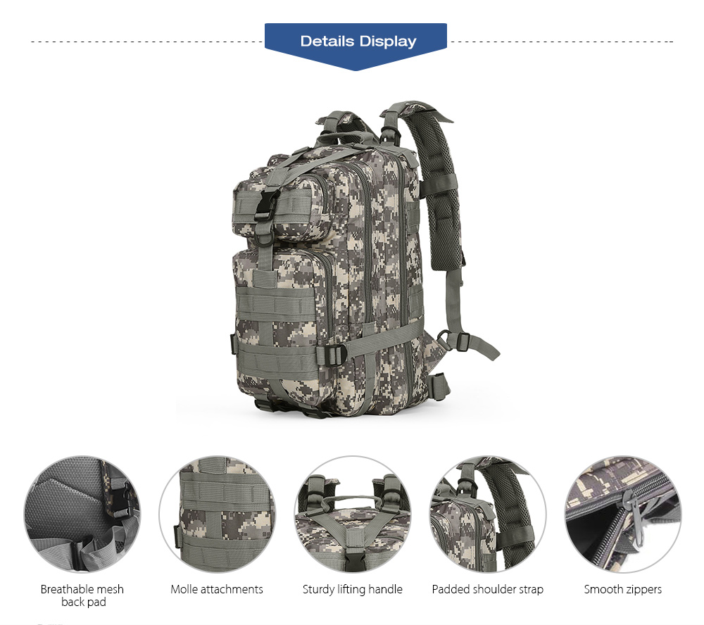 3P Military 30L Backpack Sports Bag for Camping Traveling Hiking Trekking