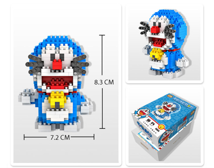 LOZ 310Pcs XXL - 9804 Doraemon Time Machine Building Block Educational Toy Christmas Present