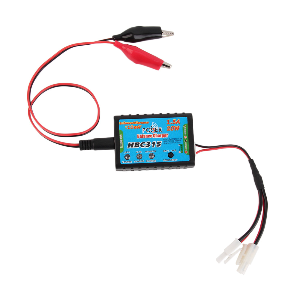 HBC315 1.5A 20W Balance Charger for 2S 3S Cell LiPo Battery Pack
