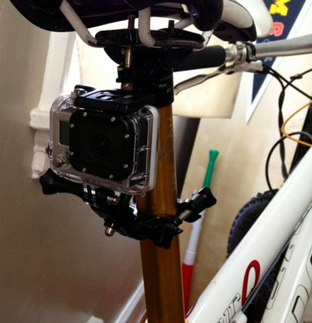 Motorcycle Bicycle Bike Handlebar Seatpost Pole Mount Action Camera Accessories for Gopro Hero 3 2 1