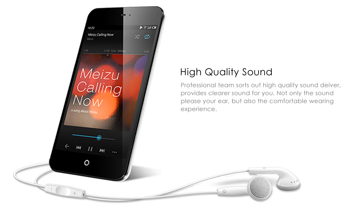 Meizu EP-21HD In-ear Miusic Earphones with Microphone Support Handsfree Calls Song Switch