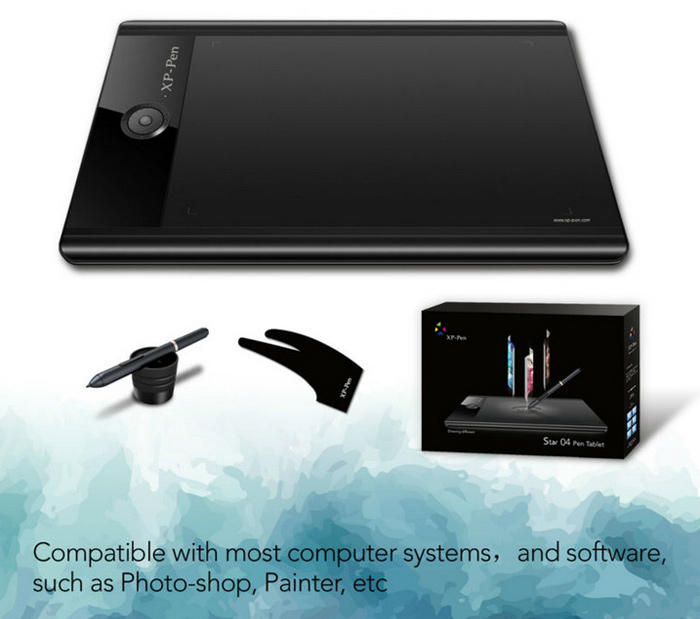 XP-Pen Star 04 11 inch Graphics Tablet Drawing Monitor Interactive Pen Board with Rotary Switches Battery-free Stylus Pen