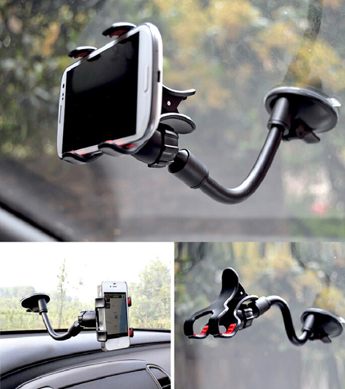 TZ-1211 Universal Car Suction Cup Windshield Mount Max Width 9cm Holder Bracket 360 Degree Rotating for GPS Smartphone