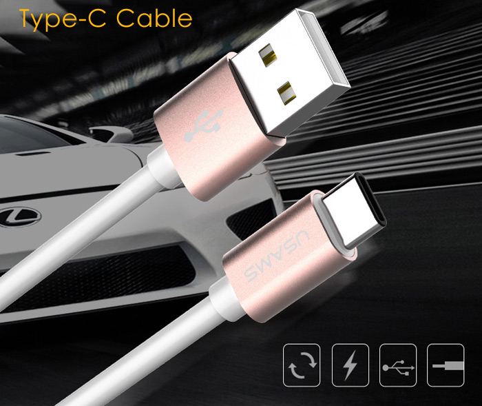 USAMS US-SJ016 1m USB2.0 to Type-C Data Transfer and Charging Cable