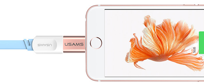 USAMS Micro USB to 8 Pin Data Transfer and Charging Adapter for iPhone 6 / 6S / 6 Plus / 6S Plus