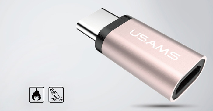 USAMS US-SJ021 Micro USB a Type-C de Adaptador