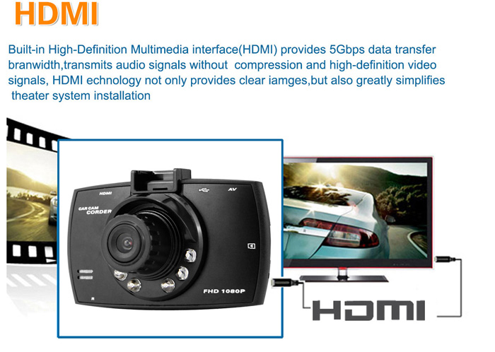 Dome G30B 2.7 inch LCD Dual Cameras 1080P Full HD Car DVR Allwinner A10 Car Dash Camera Video Recorder with Motion Detection G-sensor