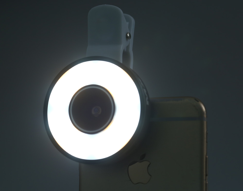 6-in-1 LED Mobilephone Lens Kit with MX-601 Multi LED Flash Wide Angle Lens Macro Lens Micro USB Charge Cable Storage Bag Lens Protective Cover