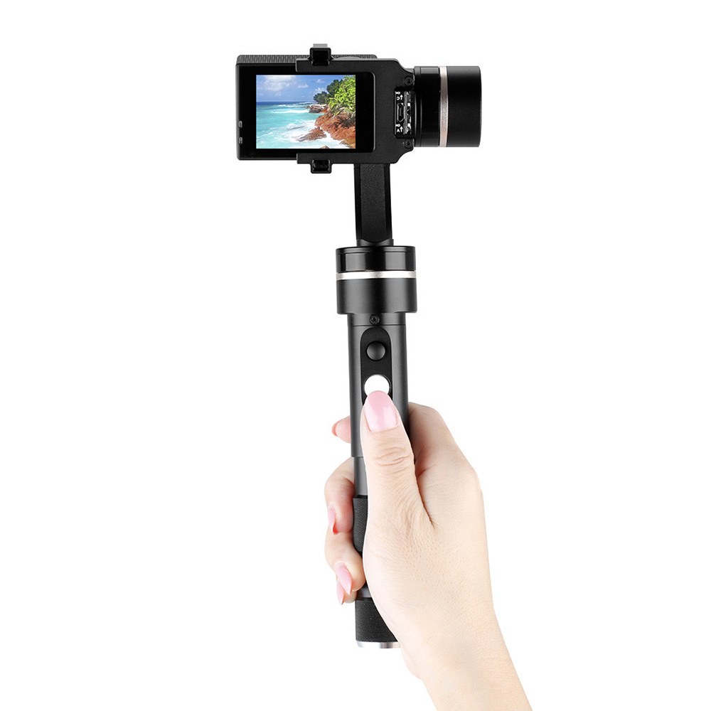 Feiyu G4S Handheld Camera Gimbal for GoPro Hero 4 3 3+ 360 Degree 3 Axis Rotation Wireless Control with Clip