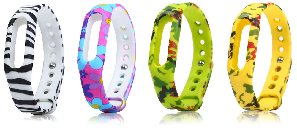 Flower Design Rubber Strap for Xiaomi Miband / 1S