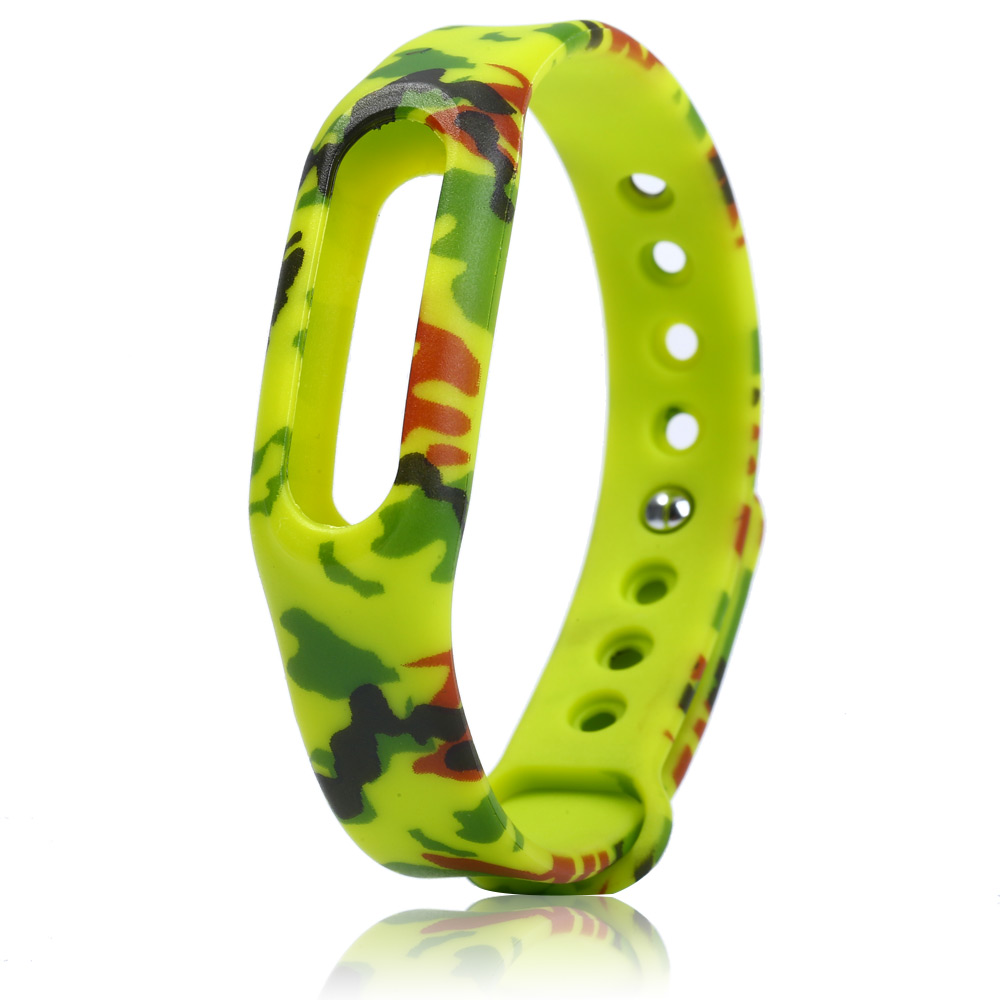 Rubber Strap with Camouflage Design for Xiaomi Miband / 1S