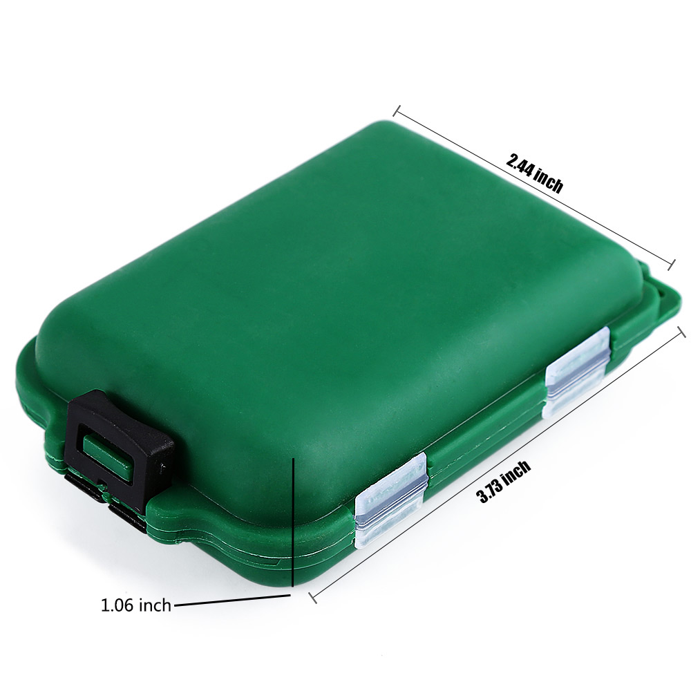 10 Compartments Fishing Lure Spoon Hook Rig Bait Storage Case Tackle Box