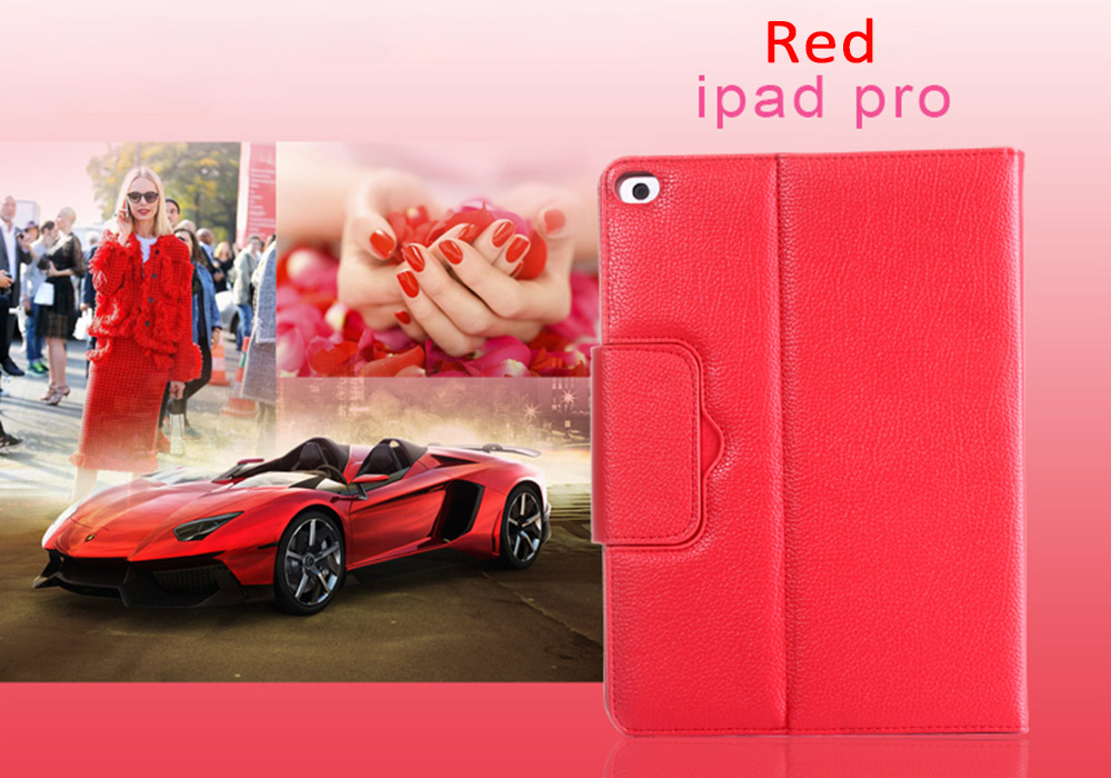 12.9 inch Detachable PU Leather Bluetooth 3.0 Keyboard Case Cover Stand for iPad Pro