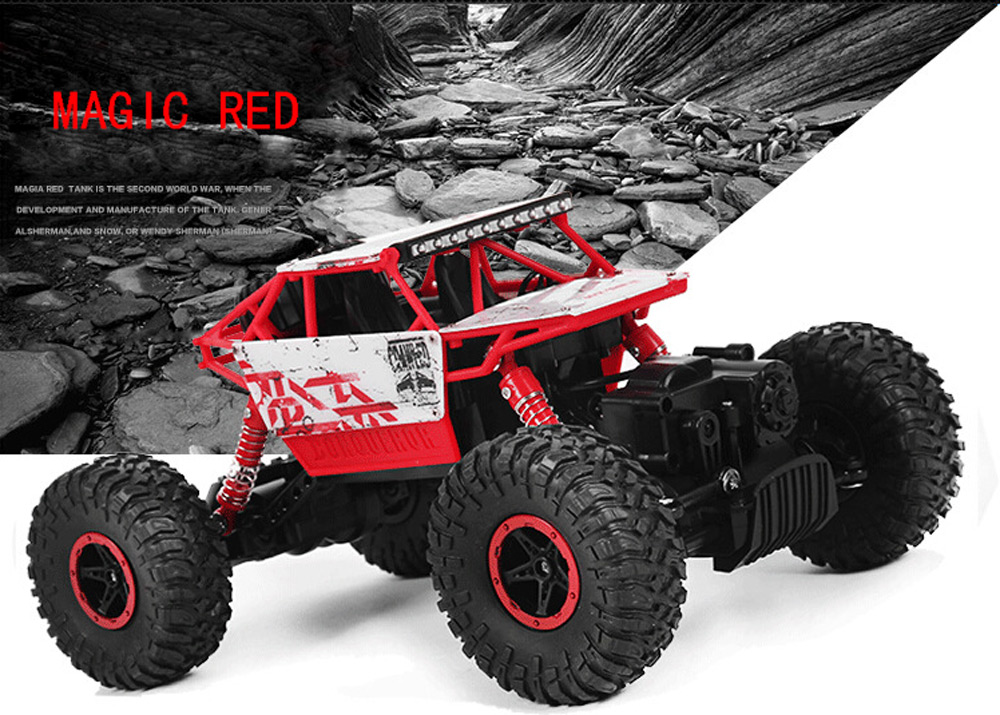 HB P1801 2.4GHz 1:18 Scale RC 4 Wheel Drive Rock Crawler Toy Car