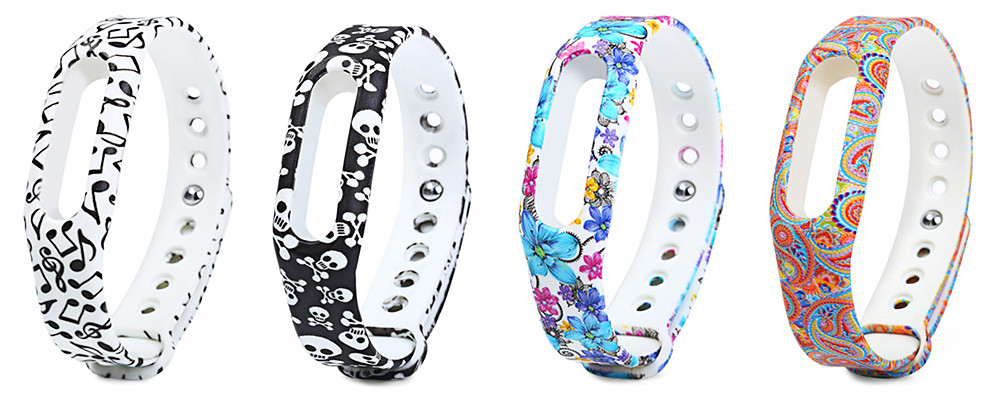 Rubber Strap Small Skull Band for Xiaomi Miband / 1S