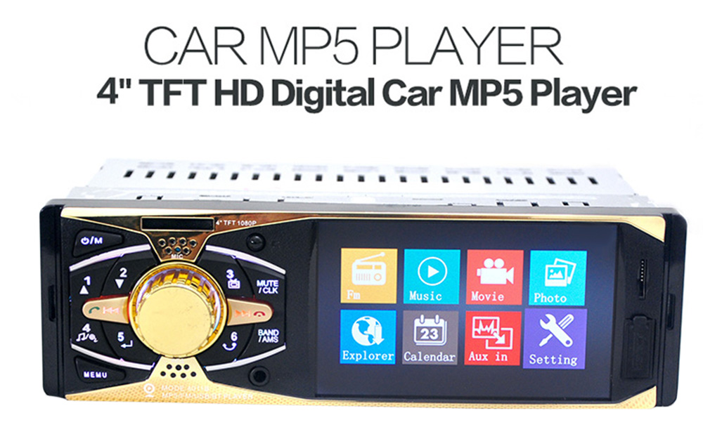 4011B 4 inch TFT Screen Bluetooth V2.0 Rear View Camera Car Audio Stereo 12V Auto Video MP5 Player AUX FM USB SD MMC with Remote Control