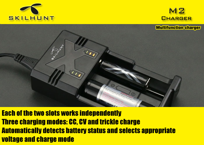 Skilhunt M2 Updated Smart Battery Charger for Li-ion Ni-MH NiCd