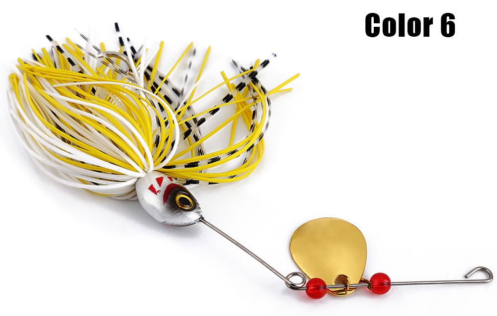 6 PCS Spinner Fishing Lure Bass Crank Bait Tackle Hook