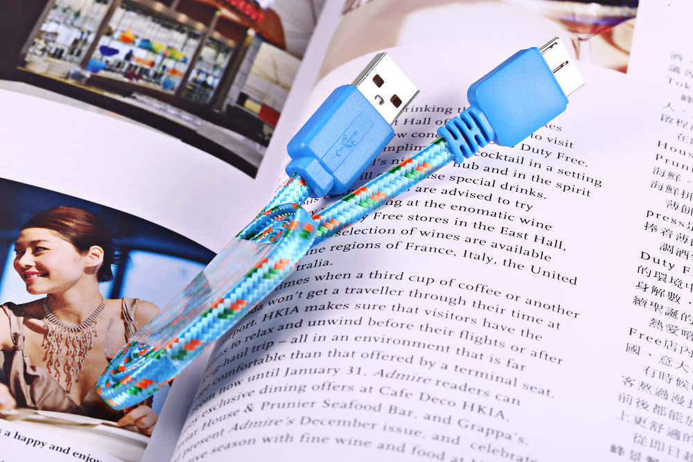 3M Braided Micro Data Synchronization Charger Cable for Samsung Galaxy S5 Note 3