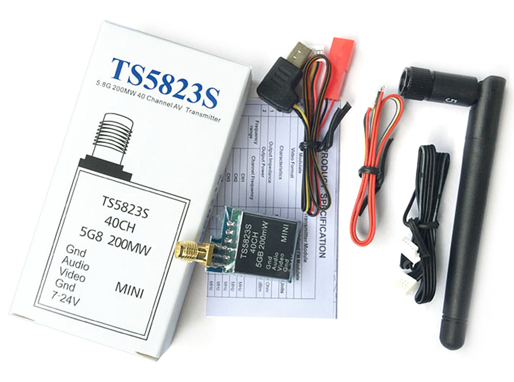TS5823S 5.8GHz Transmitter 200MW 40 Channel Fitting for Multirotor