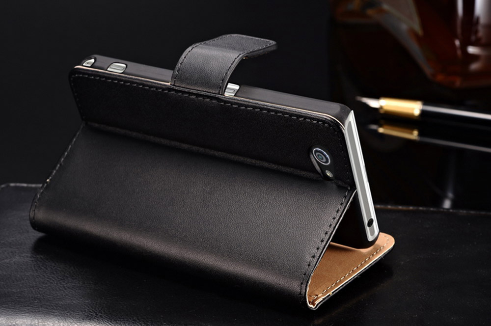 Magnetic Flip Leather Wallet Case Cover for Sony Xperia Z1 mini