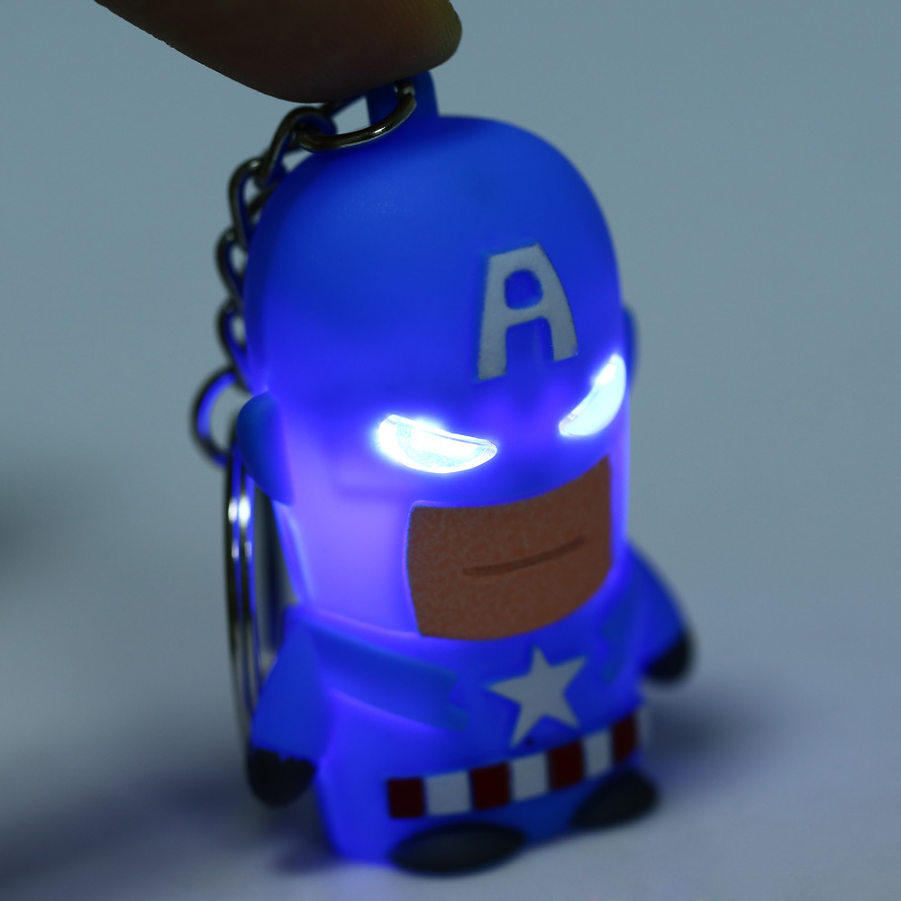 Ironman Style Key Ring Voice Light Control Bulk Keychain