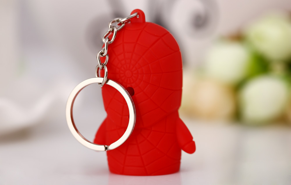 Captain American Style Key Ring Voice Light Control Keychain