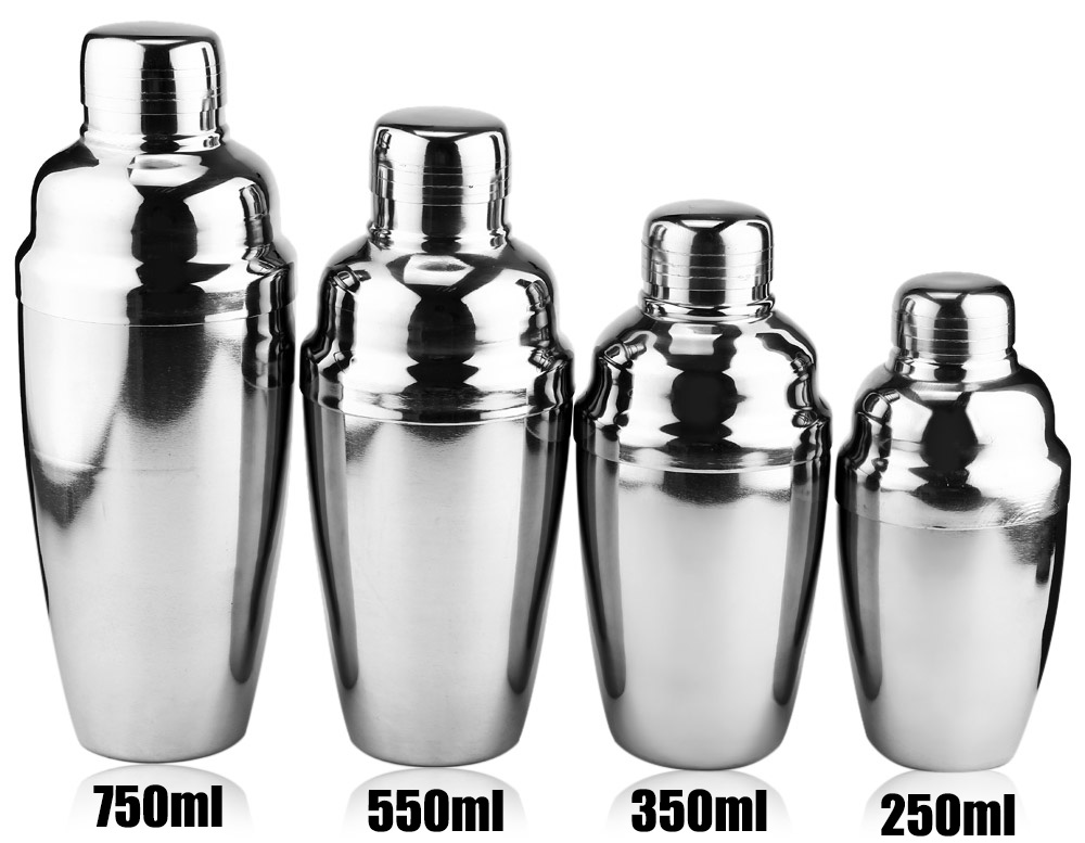 Stainless Steel Cocktail Shaker Wine Mixer for Barware Household 550ml