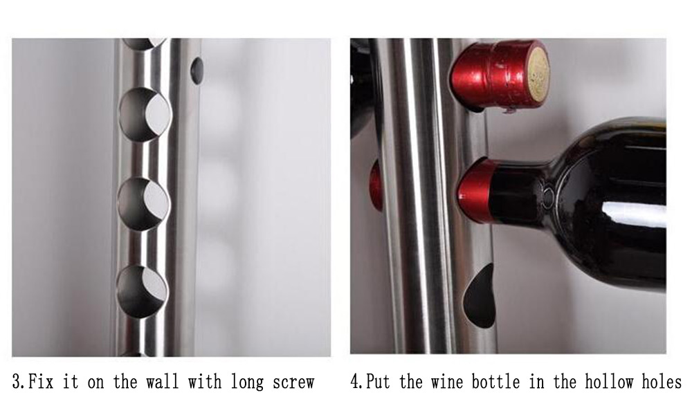 Creative Wine Rack Holder 8 Holes Home Bar Wall Vertical Wine Bottle Stand