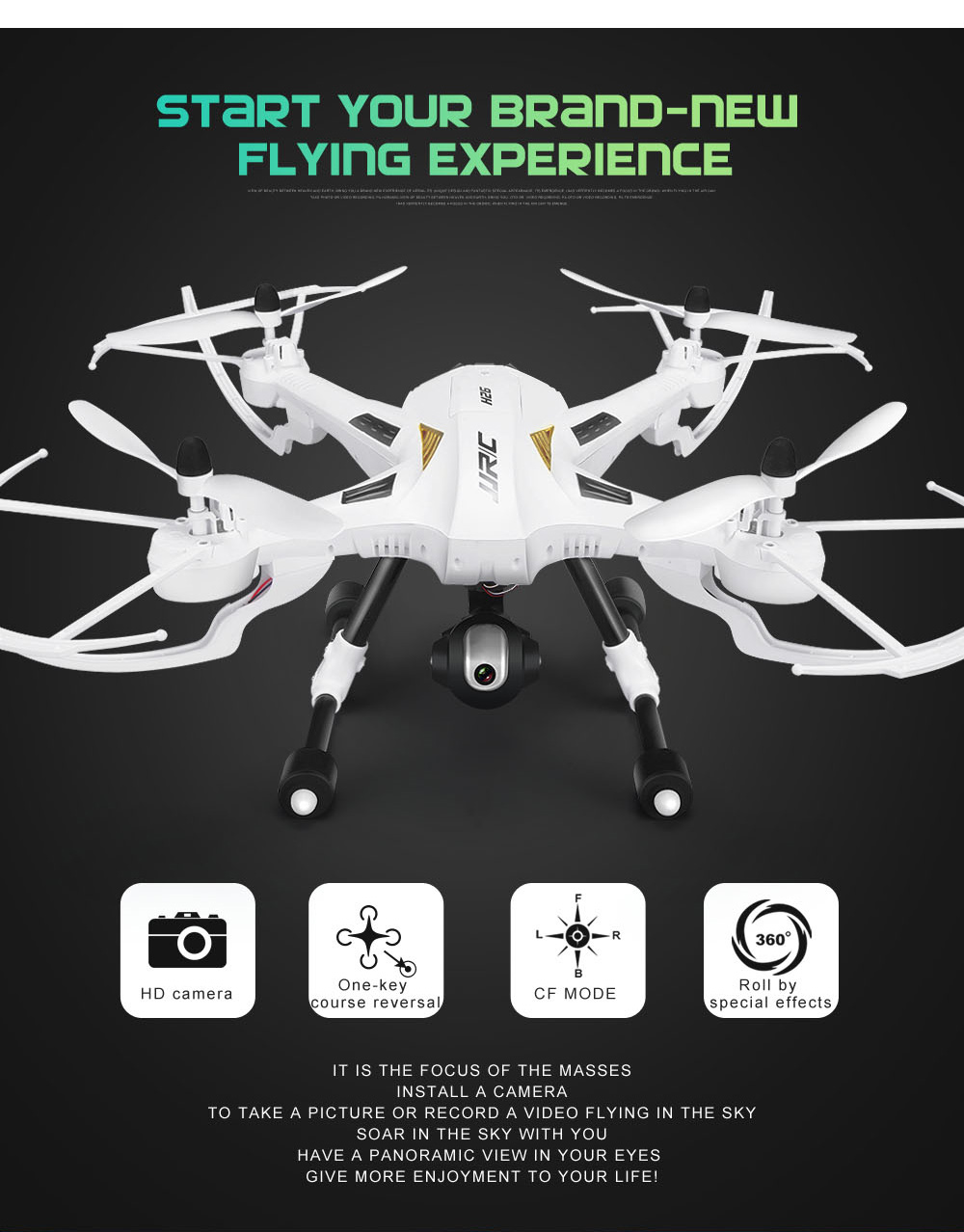 JJRC H26W WIFI FPV HD 720P Camera 2.4G 4 Channel 6 Axis Gyro RC Quadcopter