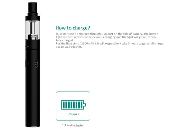 Original Eleaf Istick IJust Start E Cigarette Starter Kit with 2.3ml Clearomizer / 1300mAh Battery