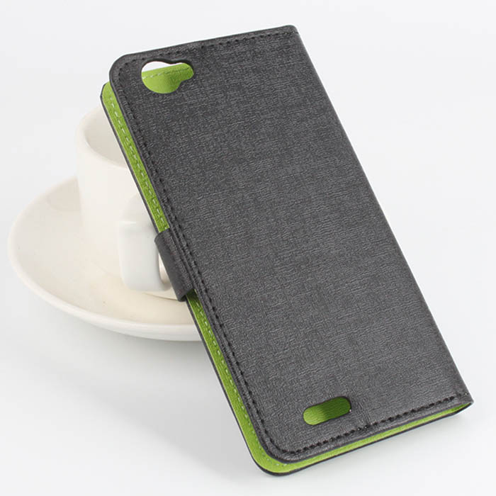 Cubot X17 Fine Leather Protective Cover Case with Stand and Card Slot