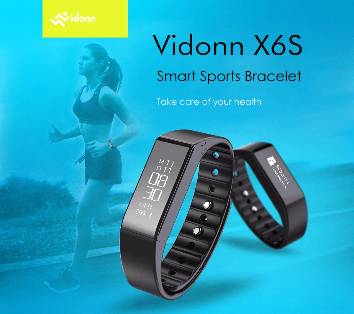 Vidonn X6S Smart Watch Tastiera Staccabile Cinturino Intelligente
