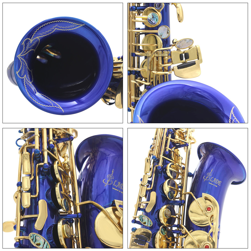 LADE Alto Eb Sax Professional Instrument with Other Spare Parts
