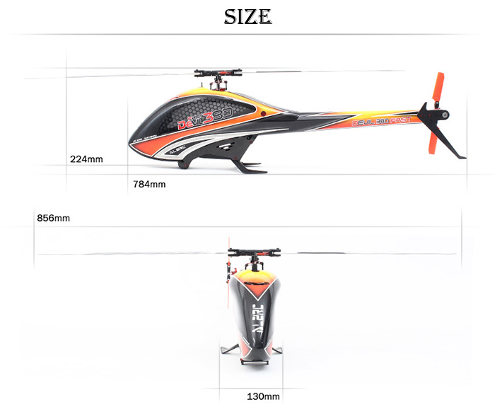 ALZRC Devil 380 FAST 6 Axis Gyro RC Helicopter Kit