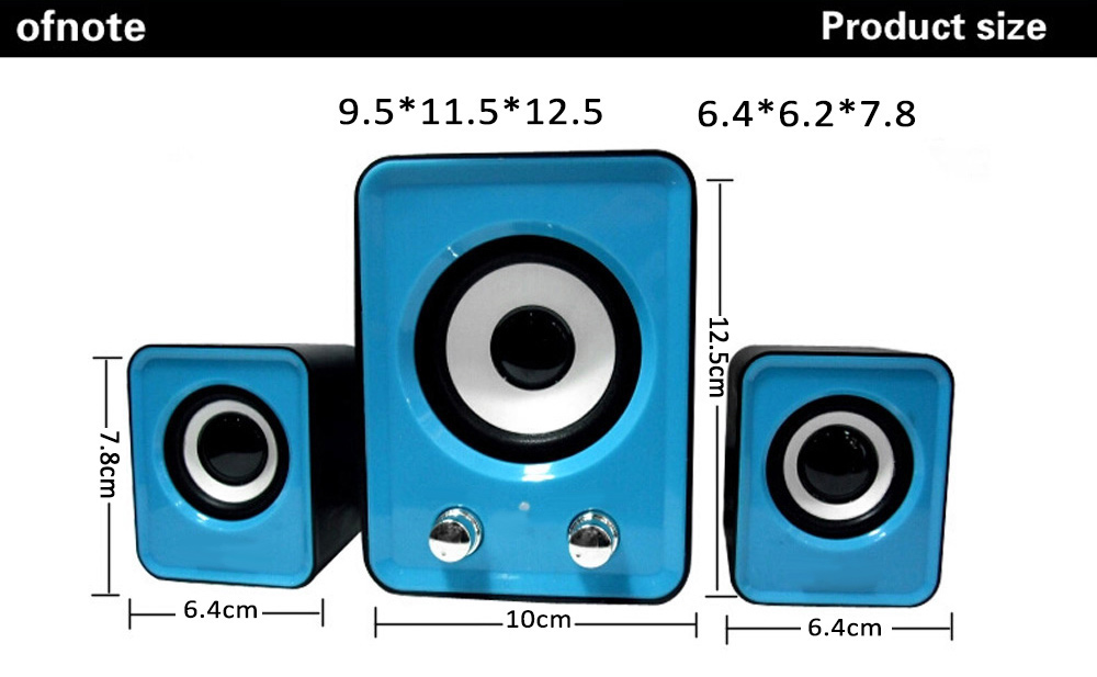 Ofnote YD - UP 2.1 USB Portable Multimedia Computer Small Stereo Subwoofer