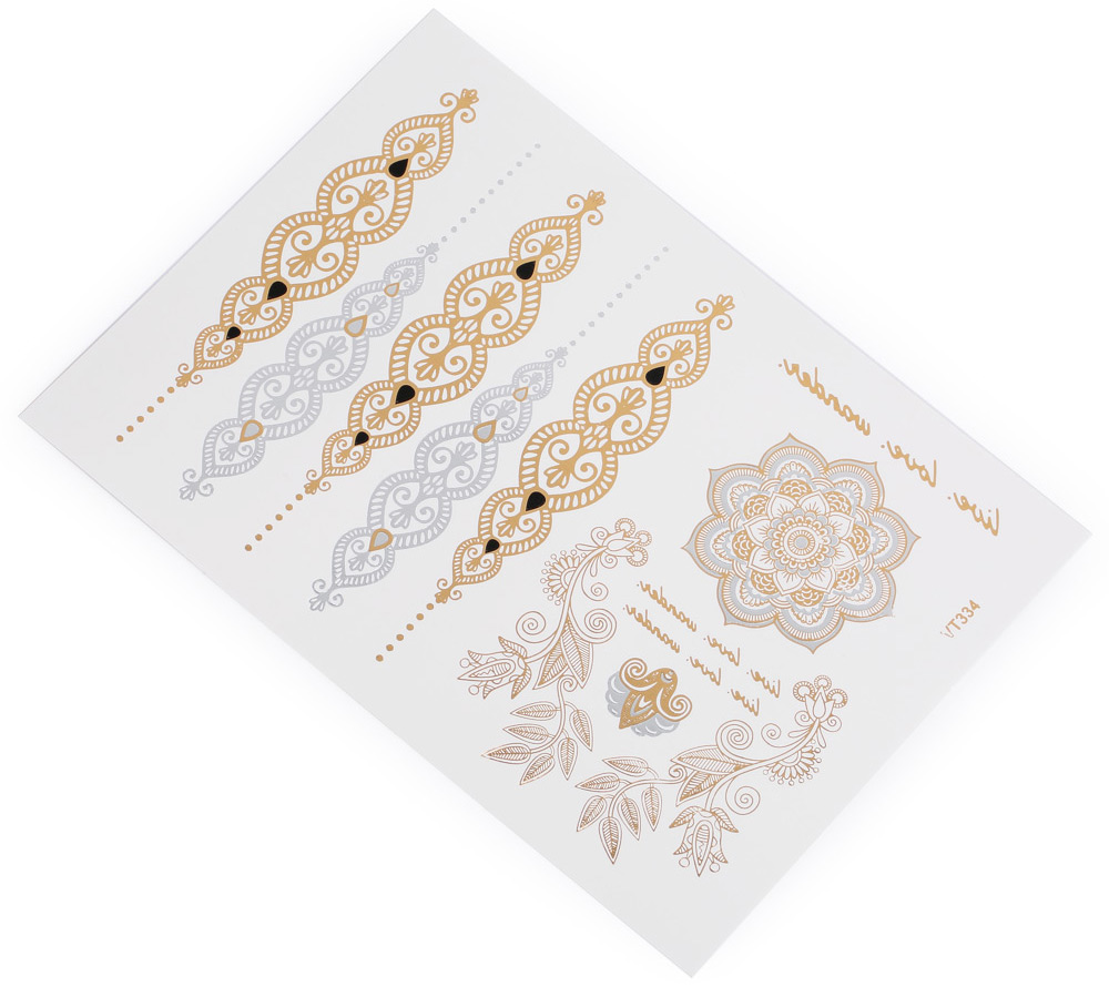 Fashion Noble Flower Pattern Temporary Tattoos Stickers