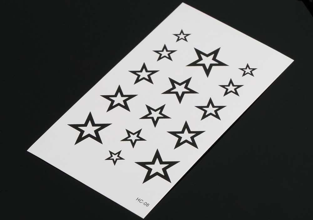 Fashion Star Pattern Removable Waterproof Tattoos Stickers