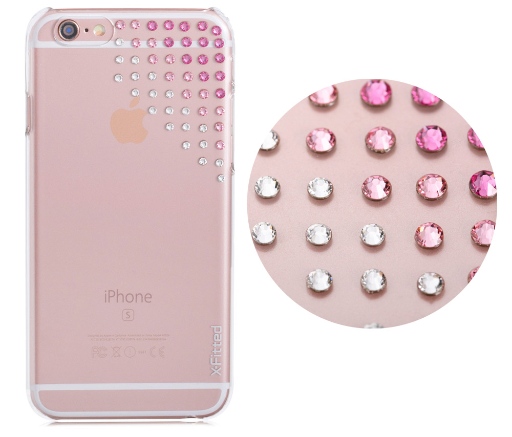 X-Fitted Elegant Protective Case for iPhone 6 / 6S with 55 Swarovski Diamond Transparent